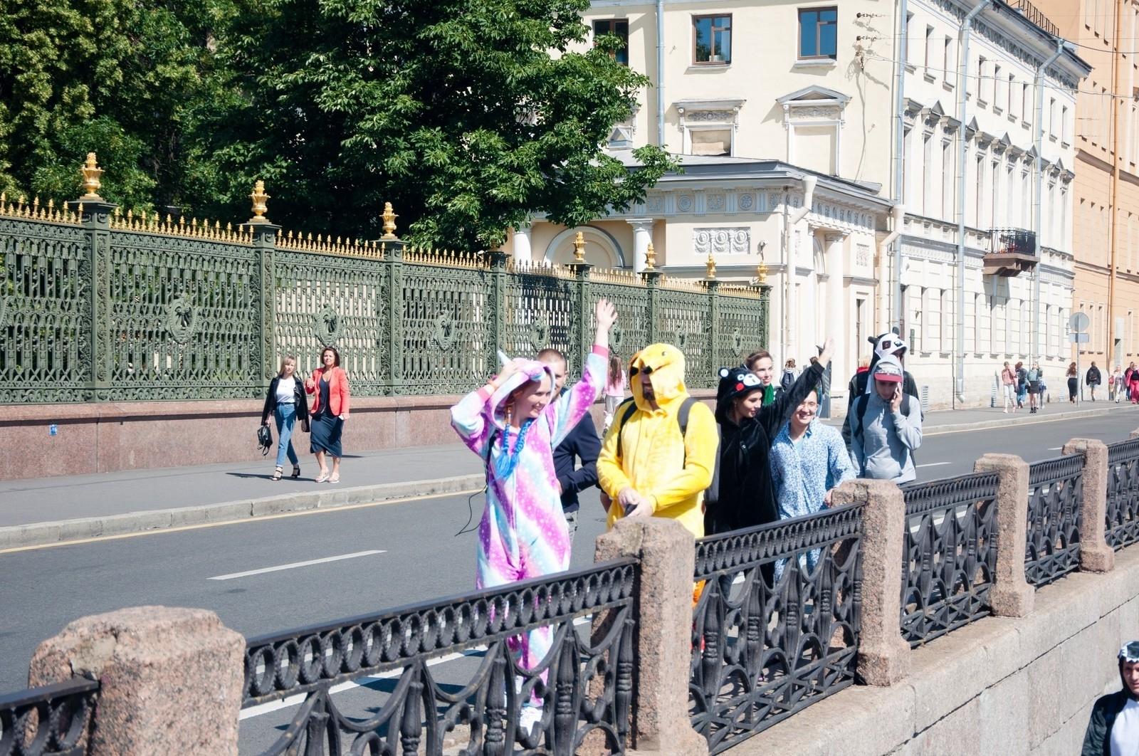 Кигуруми на улицах СПб